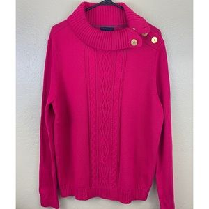 NWT Tommy Hilfiger Pink Cable Knit Sweater XL